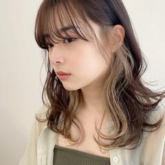 セミロング 髪質改善トリートメント ナチュラル 大人かわいい ヘアスタイルや髪型の写真・画像