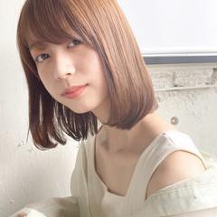 縮毛矯正 切りっぱなしボブ ストレート ロブ ヘアスタイルや髪型の写真・画像