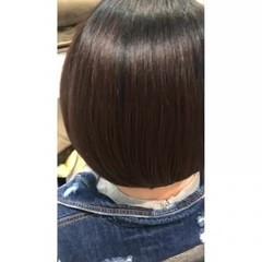 黒髪 髪質改善 黒髪ショート ナチュラル ヘアスタイルや髪型の写真・画像