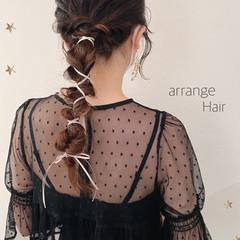 ロング ローポニーテール 結婚式アレンジ ストリート ヘアスタイルや髪型の写真・画像