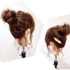 簡単ヘアアレンジ お団子 結婚式 ヘアアレンジ ヘアスタイルや髪型の写真・画像