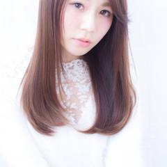 艶髪 ストレート 縮毛矯正 ナチュラル ヘアスタイルや髪型の写真・画像