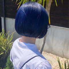 タンバルモリ モード ブルー ブルーバイオレット ヘアスタイルや髪型の写真・画像