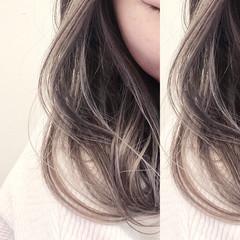 ミディアム ユニコーンカラー バレイヤージュ インナーカラー ヘアスタイルや髪型の写真・画像