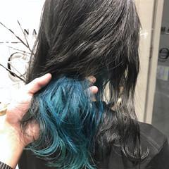 ハイライト インナーカラー 外国人風カラー グレージュ ヘアスタイルや髪型の写真・画像
