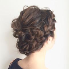 大人かわいい ゆるふわ ヘアアレンジ 編み込み ヘアスタイルや髪型の写真・画像