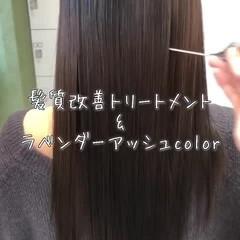 外国人風カラー 髪質改善トリートメント ロング ナチュラル ヘアスタイルや髪型の写真・画像
