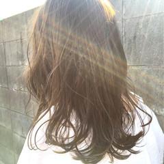 外国人風 外国人風カラー イルミナカラー セミロング ヘアスタイルや髪型の写真・画像