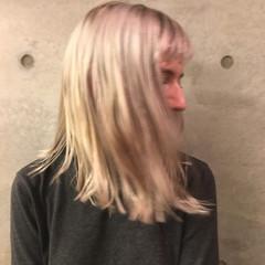 ブラントカット 前髪あり 色気 ボブ ヘアスタイルや髪型の写真・画像