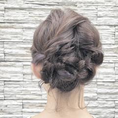大人ミディアム ヘアアレンジ ナチュラル可愛い 大人女子 ヘアスタイルや髪型の写真・画像