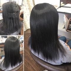 ロング 髪質改善トリートメント 髪質改善 縮毛矯正 ヘアスタイルや髪型の写真・画像
