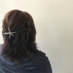 女子会 ナチュラル デート ボブ ヘアスタイルや髪型の写真・画像