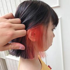 デート アウトドア ガーリー ブリーチ ヘアスタイルや髪型の写真・画像