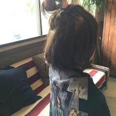 ヘアアレンジ ゆるふわ ハーフアップ お団子 ヘアスタイルや髪型の写真・画像