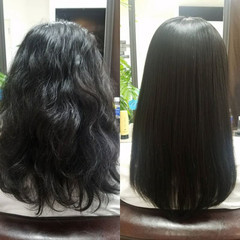 ロング 守山区 オフィス 名古屋市 ヘアスタイルや髪型の写真・画像