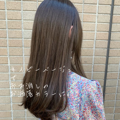 ロング ハイライト 極細ハイライト アッシュ ヘアスタイルや髪型の写真・画像