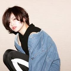かっこいい 黒髪 マニッシュ ショート ヘアスタイルや髪型の写真・画像