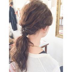 結婚式 アッシュ ゆるふわ ロング ヘアスタイルや髪型の写真・画像