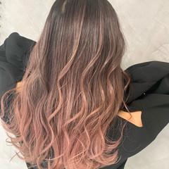 エアータッチ ラベンダーピンク ナチュラル ピンクアッシュ ヘアスタイルや髪型の写真・画像