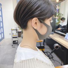 ショートボブ ショートヘア モード 小顔ショート ヘアスタイルや髪型の写真・画像