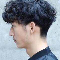 刈り上げ ストリート 黒髪 パーマ ヘアスタイルや髪型の写真・画像