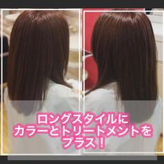 髪質改善カラー ロング 髪質改善 大人ロング ヘアスタイルや髪型の写真・画像