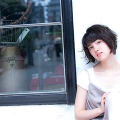 黒髪 ショート 外国人風 アッシュ ヘアスタイルや髪型の写真・画像