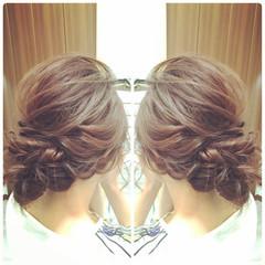 ロング まとめ髪 ルーズ アップスタイル ヘアスタイルや髪型の写真・画像