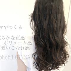 ゆるふわパーマ ナチュラル グレージュ デジタルパーマ ヘアスタイルや髪型の写真・画像