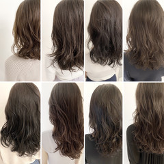 イルミナカラー デジタルパーマ ナチュラル 透明感カラー ヘアスタイルや髪型の写真・画像