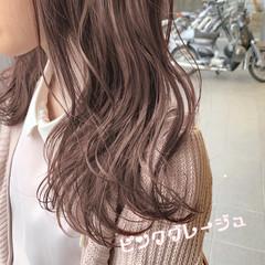 ピンク ミルクティーベージュ ガーリー ヘアアレンジ ヘアスタイルや髪型の写真・画像