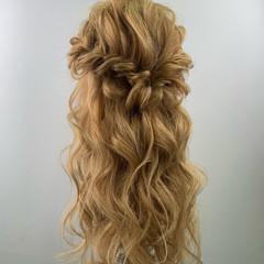 簡単ヘアアレンジ フェミニン アンニュイほつれヘア ロング ヘアスタイルや髪型の写真・画像