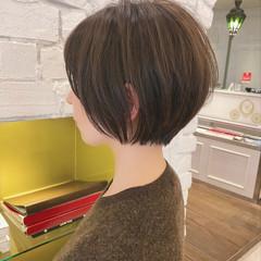 ショートボブ 大人かわいい ショートヘア デート ヘアスタイルや髪型の写真・画像