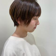 ナチュラル 無造作パーマ ナチュラル可愛い ショート ヘアスタイルや髪型の写真・画像