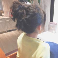 ゆるふわ ショート 簡単ヘアアレンジ お団子 ヘアスタイルや髪型の写真・画像
