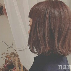 ボブ アッシュ 外ハネ ストリート ヘアスタイルや髪型の写真・画像