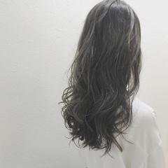 外国人風 ナチュラル ハイライト モーブ ヘアスタイルや髪型の写真・画像