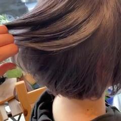 ショートボブ ミニボブ ストリート アッシュグレージュ ヘアスタイルや髪型の写真・画像