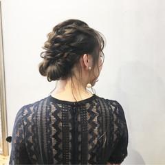 デート セミロング ナチュラル 簡単ヘアアレンジ ヘアスタイルや髪型の写真・画像