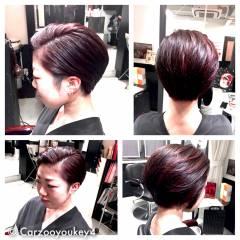 ウェットヘア モード 暗髪 ショート ヘアスタイルや髪型の写真・画像