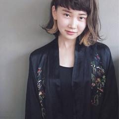 前髪あり 大人かわいい ハイライト ナチュラル ヘアスタイルや髪型の写真・画像