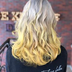 外国人風カラー 暗髪 セミロング イルミナカラー ヘアスタイルや髪型の写真・画像