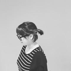 ストレート ショート 簡単ヘアアレンジ ボブ ヘアスタイルや髪型の写真・画像