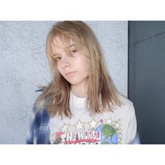 外国人風 ミディアム ハイトーン ピュア ヘアスタイルや髪型の写真・画像