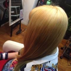 イエロー 外国人風 ロング オレンジ ヘアスタイルや髪型の写真・画像