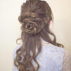 ハーフアップ 二次会 ショート ロング ヘアスタイルや髪型の写真・画像