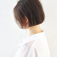 ラベンダーピンク ミニボブ ピンク ボブ ヘアスタイルや髪型の写真・画像