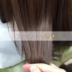 ミディアム ナチュラル 髪質改善 縮毛矯正 ヘアスタイルや髪型の写真・画像