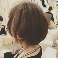 ショート ストリート ハイライト 暗髪 ヘアスタイルや髪型の写真・画像