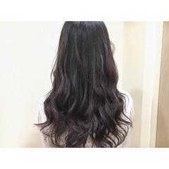 グラデーションカラー 暗髪 ロング パープル ヘアスタイルや髪型の写真・画像